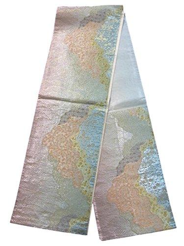 花に水をやるアミューズメントピアノリサイクル 袋帯 古代宮廷文様 正絹 六通