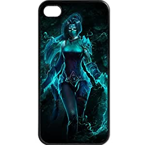 Custom personalized Protective Case for iPhone 4/4s - Game League of Legends LOL akali by runtopwell