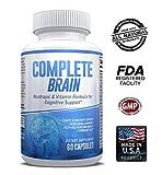 Brain Supplement & Nootropic - CompleteBrain - Improves Memory, Mood, Focus, Clarity & Creativity - by eXplicit Supplements - 60 Capsules