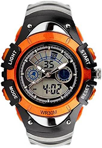 ALPS Kids Watches LED Digital Boys Girls Waterproof Watches (Orange)