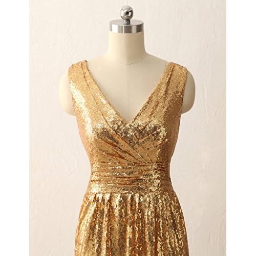Jaeden Simple Gold Bridesmaid Dresses Short Sequin Dress For