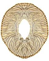 Echo Design Women's Neutral Brown & Tan Zebra Print Infinity Scarf