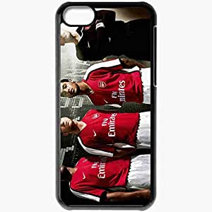 Personalized iPhone 5C Cell phone Case/Cover Skin Arsenal Player FIFA Football Black