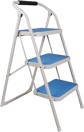 Escalera De Tres Peldaños Escalera De Mano Plegable De Interior Escalera De Escalada Móvil Escalera Mecánica Multifunción (Color : Blue, Size : 47 * 64.5 * 97.5cm): Amazon.es: Hogar