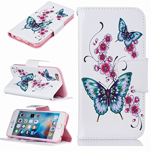 Yiizy Apple IPhone 6s Plus / IPhone 6 Plus Funda, El Vuelo De La Mariposa Diseño Solapa Flip Billetera Carcasa Tapa Estuches Premium PU Cuero Cover Cáscara Bumper Protector Slim Piel Shell Case Stand