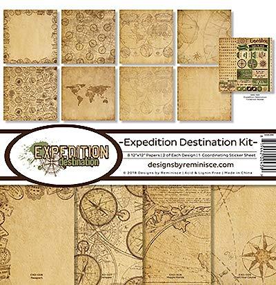Reminisce (REMBC) EXD-200 Expedition Destination Scrapbook Collection Kit Multi Color Palette