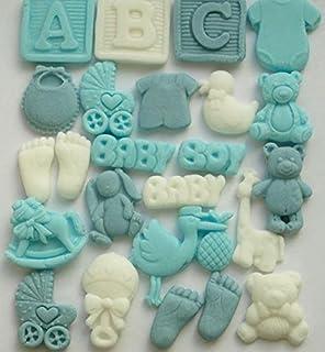 Decoración comestible para cupcakes de bebé, regalos de baby shower, decoración para tartas,