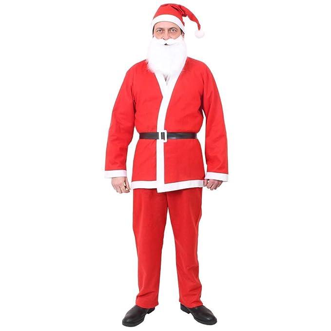 ILOVEFANCYDRESS Hombre 5 Piezas Santa Claus Navidad Vestido ...