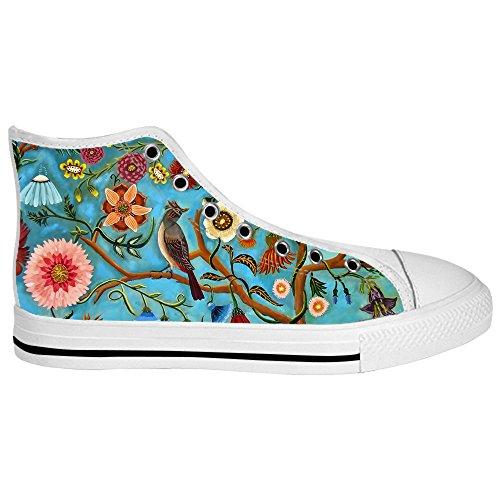 Custom Vogel und Wald Mens Canvas shoes Schuhe Lace-up High-top Sneakers Segeltuchschuhe Leinwand-Schuh-Turnschuhe C