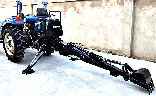 3 Point Hitch PTO BH7600 Hydraulic Farm Tractor Backhoe Attachement Excavator with Bucket, Category 1 by Western Pacific
