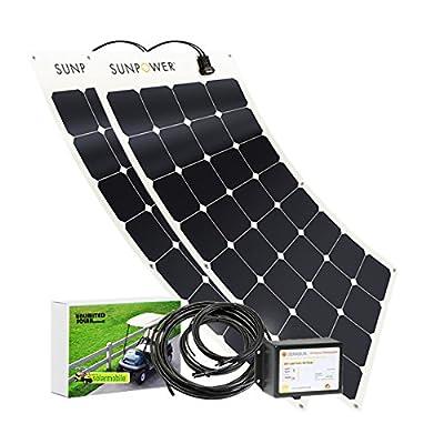 Unlimited Solar 200 Watt 48V Golf Cart Flexible Solar Charging System, MPPT