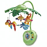 Fisher-Price Rainforest Peek-A-Boo Leaves Musical Mobile, Baby & Kids Zone