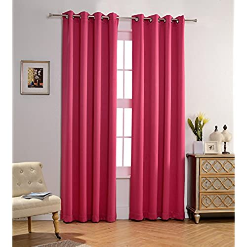Pink and Purple Curtains: Amazon.com