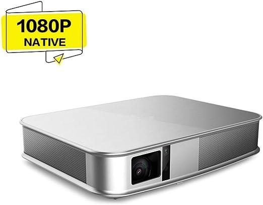 MXQH Proyector, Android 4,4 proyectores de vídeo portátiles 3D DLP ...