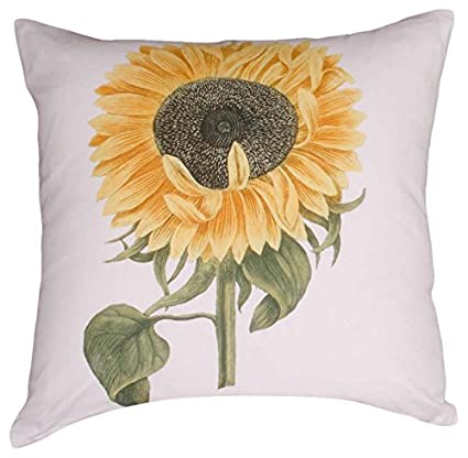 Home Collections by Raghu 16x16 Sunflower White Pillow on