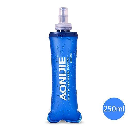 docooler plegable deportes BPA libre de PVC suave agua corriente eléctrica suave senderismo Flask Botella de hidratación