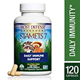 Host Defense – Stamets 7 Multi Mushroom Capsules, Supports Overall Immunity by Promoting Respiration and Digestion with Lion's Mane, Reishi, and Cordyceps, Non-GMO, Vegan, Organic, 120 Count Review