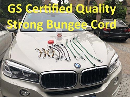 "German GS Certification Diameter 8mm Bungee Cord 12 Pieces in Jar Including 10/"" 4pcs Ltd. 18/"" 4pcs 36/"" 2pcs Shaoxing Hong Kang Ecommerce Co 24/"" 2pcs"