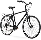 sixthreezero Explore Your Range Mens 7-Speed Hybrid Commuter Bicycle, 20-Inch Frame/700C Wheels, Matte Black