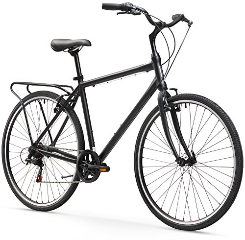 Find Cheap sixthreezero Explore Your Range Men's 7-Speed Hybrid Commuter Bicycle, 20-Inch Frame/700C...