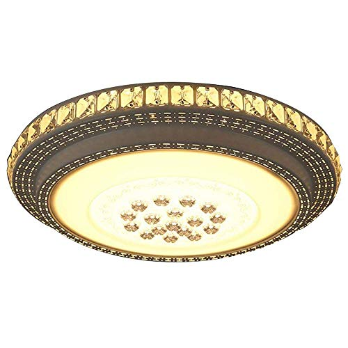 - Mengzhu-Michelle 48W LED Crystal Ceiling Light Bathroom Starlight Effect Fixture Hallway Dimmable Round Lamp Ceiling Lamp Lighting Modern Classical Creative Crystal Ceiling Lights Living Roo