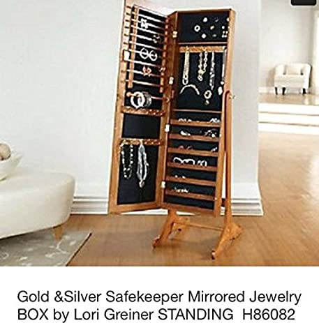 Amazon.com: Gold & Silver Safekeeper Mirrored Jewelry Cabinet by ...