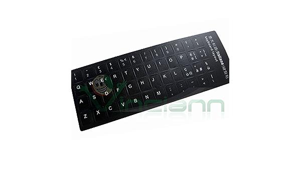 Letras adhesivas teclado italiano fondo negro letra blanca stickers adhesivos