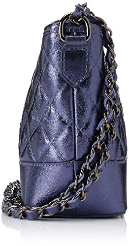 Chicca Borse 8816, Borsa a Spalla Donna, 26x18x10 cm (W x H x L) Blu (Blue)