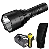 Nitecore P30 1000 Lumen 676 Yard Throw Rechargeable Searchlight Flashlight with Rechargeable Battery and LumenTac Charger