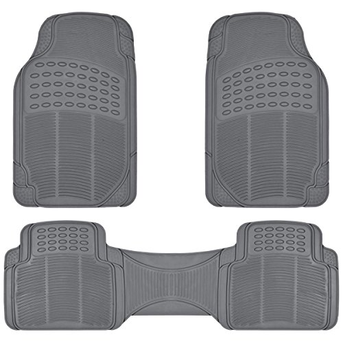 ProLiner Gray All Weather Rubber Auto Floor Mats Liner - Heavy Duty 3pc Set