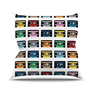 """KESS inhouse pm1012aop0318Proyecto """", 45,7x 45,7m Cintas de Rainbow"""" Cojín Manta de exterior, multicolor"""