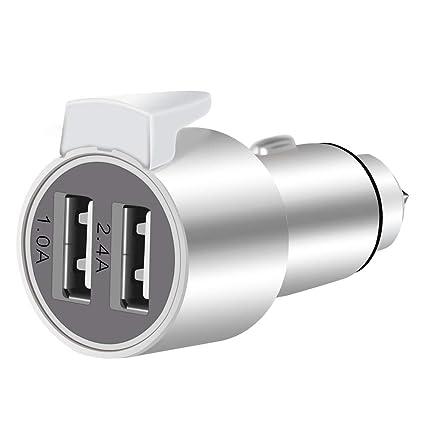 Amazon.com: Cargador de coche dual USB multifunción de metal ...