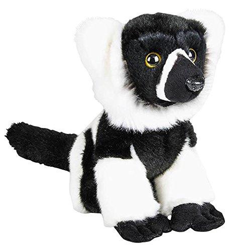 Wildlife Tree 7 Stuffed Black-and-White Ruffed Lemur Plush Floppy Animal Heirloom Collection White Ruffed Lemur