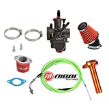 NIBBI Racing Carb Jet PWK 26mm Kit Air Intake Manifold Carburetor Flat slide Throttle Line Cable CNC Handlebar Set Off-road Motorcycle Mini Bike Motocross 150CC 200CC 250CC