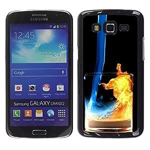 Stuss Case / Funda Carcasa protectora - Fuego y Agua Cóctel - Samsung Galaxy Grand 2