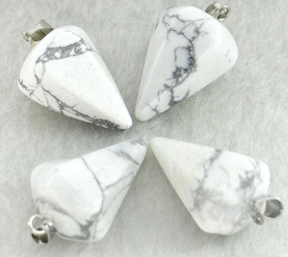 N/C Colgante de Piedra Natural Collares de Cristal de Cuarzo de Piedra Natural Cristal de Cuarzo Ópalo Cuentas de Ojo de Tigre Colgante Péndulo para Hacer Joyas de Bricolaje Collares