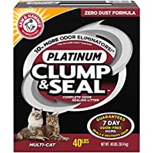 Arm & Hammer Clump & Seal Platinum Litter, Multi-Cat, 40lb