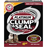 Arm & Hammer Clump & Seal Platinum Litter, Multi-Cat, 40lb