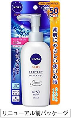 Nivea Sun Protect Super Water Gel SPF 50/PA+++ (Face & Body)Pump Type 140 g (Japan Import)