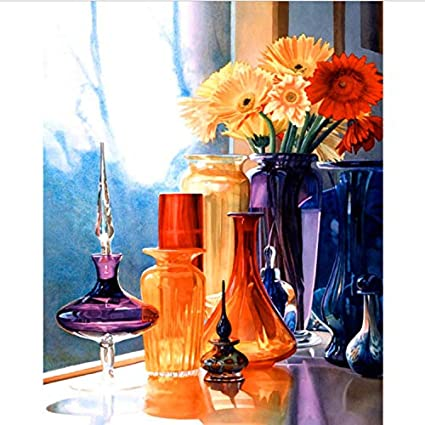 Pintura Al Óleo Digital Creativa Pintada A Mano Arte De Las Botellas De Cristal 24 Pintura Del Bricolaje Del Pigmento Del Color Que Pinta Por Número