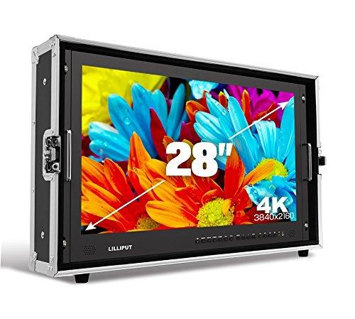Lilliput BM280-4K 28'' Carry-on 4K Broadcast Director Monitor with SDI, HDMI, VGA & DVI inputs + V mount plate