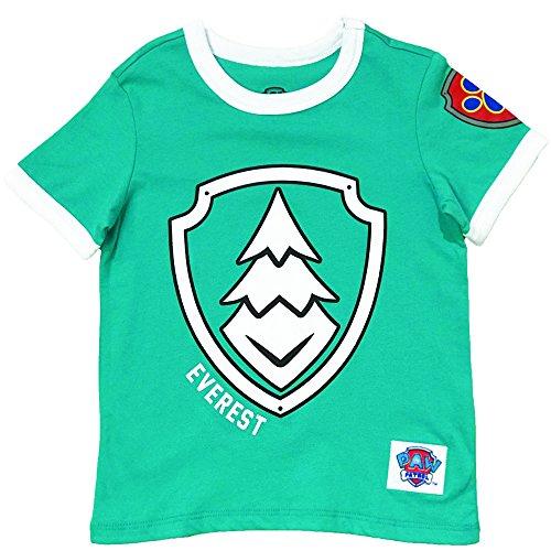 Nickelodeon Paw Patrol Ringer T- Shirt: Chase, Marshall, Rocky, Rubble, Zuma,Sky, Everest (Everest, 4T) ()