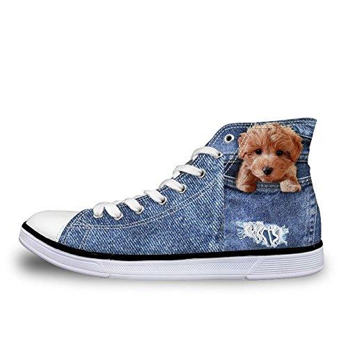 a Pantofole Donna Coloranimal 9 Denim Poodle Stivaletto 74wwzgqR