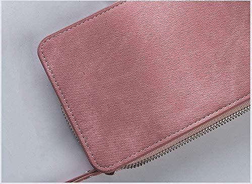 f698d393c Sky Larga La Bolso Mujeres color Las Pu Pink grow Cuero Multi Cremallera  Suave Embrague tarjeta ...