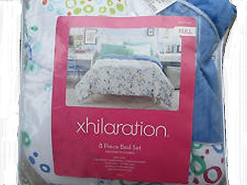 xhilaration, 6 Piece Bed Set Twin, White/Blue/Green/Red