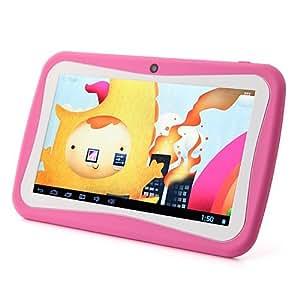 Beneve Kids Tablet PC de 7 pulgadas Android 4.1 Jelly Bean RK2926 1GHz 8GB de doble cámara WiFi Rosa