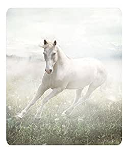 Brain114 Top Quality Oblong Mouse Pad White Horse Cute Designs Mousepad Pattern Print Mouse Pads by ruishername