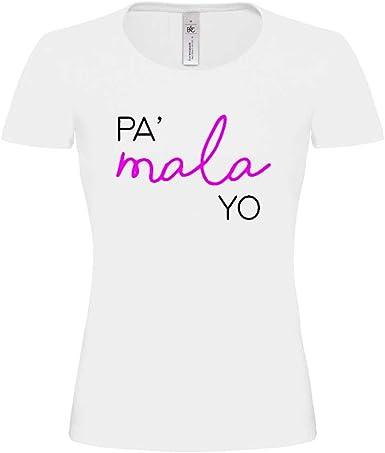 Camiseta Mujer Blanca pa Mala yo OT Algodon Premium 190grs: Amazon ...