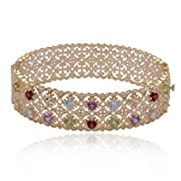 18k Yellow Gold Plated Sterling Silver Multi-Gemstone Bracelet from Amazon Curated Collection