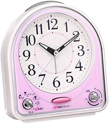 RMXMY 子供の漫画31コード着メロスイープハイエンドのベッドルームのベッドサイド調整可能なサウンド人格シンプルなファッションクリエイティブ多機能小さな目覚まし時計